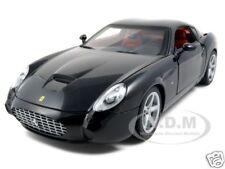 FERRARI 575 GTZ ZAGATO BLACK 1:18 DIECAST MODEL CAR BY HOTWHEELS P9888