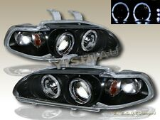 Fit for 92 93 94 95 Honda Civic Projector Headlights 2 Halo LED Black 2/3 Door