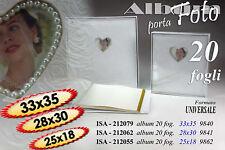 Album portafotografie portafoto matrimonio 20 fogli 33x35