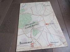 GRAND PLAN MANUSCRIT 1890 MAIZEROY BAZONCOURT MOSELLE