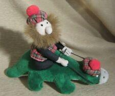 Thistle Product Scotland Nessie Souvenir Plush Toy Loch Ness Monster w Man Rider
