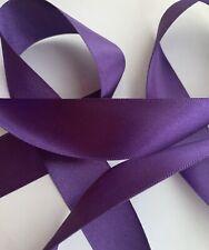 2 Metres Purple Satin Ribbon 25mm Craft Wedding, Cake Bows Baby Shower