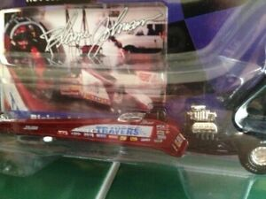 """the late BLAINE JOHNSON """"TRAVERS TOOLS"""" 1/64 NHRA RED TOP FUEL DRAGSTER DIE CAST"""