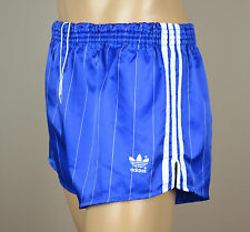 ADIDAS Glanz Nylon Shorts Vintage Short Sporthose Blau-Gr.M-4    (1244)