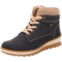 Remonte Damen Schuhe Stiefel Stiefelette Boots Schnürer R4370-14 blau Leder TEX