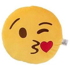 35cm Plush Emoji Emoticon Cushion Funny Circular Pillow Gift Blow a Kiss Face