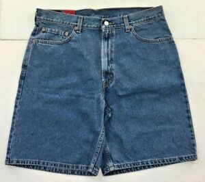 LEVI's 550 Mens Relaxed Fit stone washed blue SHORTS Free Shipping