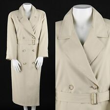 BURBERRY'S BURBERRY PRORSUM KHAKI BEIGE DOUBLE BREASTED TRENCH COAT Size 8