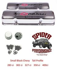 65-86 Impala Monte Carlo Caprice small block CHROME BOWTIE tall valve cover kit