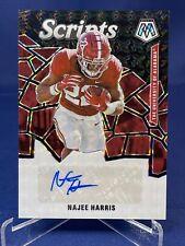 2021 Mosaic Draft Picks Football Najee Harris 1/1 Black Mosaic Rookie Auto