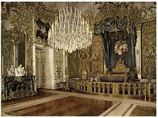 Bavière, Bayern, Schloss Linderhof, König Ludwig II's Schlafzimmer. PZ vint
