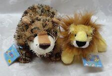New Ganz Webkinz Lil Kinz Virtual Pets Lion & Leopard SEALED CODES Plush Stuffed