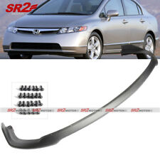 Front Body Bumper PU Lip Kit Spoiler CS Style fits 2006-2008 Honda Civic Sedan