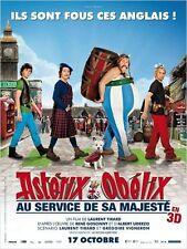Affiche 40x60cm ASTÉRIX ET OBÉLIX: AU SERVICE DE SA MAJESTÉ 2012 Tirard NEUVE
