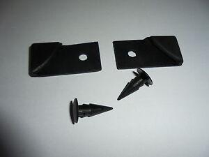 Triumph TR7 TR8**DOOR CORNER PROTECTOR Pair **inc retaining clip BOOT/TRUNK also