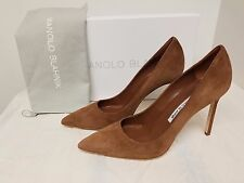 Manolo Blahnik 'BB' Pointy Toe Pump TAN SUEDE,  Original:$595.00  Size - 39,5