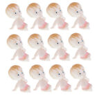 12pcs Baby Girl Boy Figures Doll Baby Shower Baptism Party Table Decorations