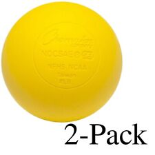 Champion Sports Official Size Rubber Lacrosse Ball, Yellow (Pack of 2)