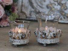 Chic Antique, Teelichthalter mit Rosendekor antique creme