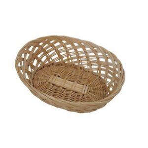 Natural Wicker Bread Basket Round Storage Polypropylene Food Serving Display