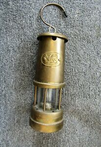 Vintage 20thC ( Wales ) Brass Miners Lamp
