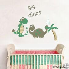2 Big Dinos Removable Wall Art Decal  kids room decor