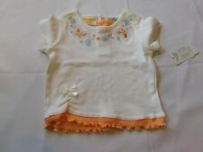 Sunshine Baby Girl's Short Sleeve T Shirt Peach Molt Butterflies 12 Months NWT