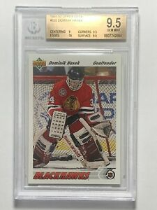 Dominik Hasek 1991 Upper Deck NHL Rookie RC Card BGS GEM MINT 9.5
