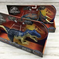 2019 Jurassic World Dino Rivals Allosaurus Nasutoceratops Battle At Big Rock Set