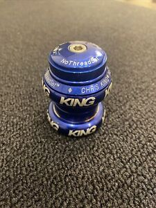 Chris King 1 1/8 Headset Blue Removed From Mid School BMX Great Shape