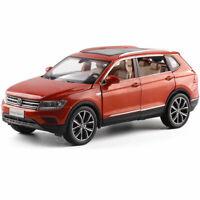 1:32 All New Tiguan L SUV Die Cast Modellauto Auto Spielzeug Orange Sammlung