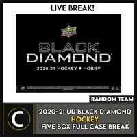 2020-21 UPPER DECK BLACK DIAMOND HOCKEY 5 BOX CASE BREAK #H1145 - RANDOM TEAMS
