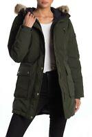 NWT Michael Kors Premium Heavy Down Genuine Downfill Green Jacket Womens Size XL