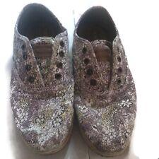 Toms womens slip on floral print shoes sz 9