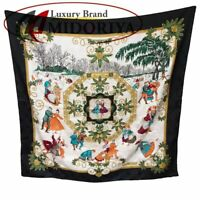 Hermes Scarf Silk 100 Carre 90 Joies Hiver Winter Fun Multi Colored /048351