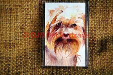 Yorkshire Terrier Gift Dog Art Fridge Magnet 77x51mm Xmas stocking filler Yorkie