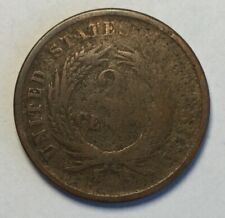 1864 Two Cents Copper Coin United States 2c