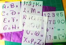 Disney Alphabet Letters reusable STENCIL Kids Craft Fun Template Words