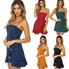 Women Sleeveless Lace Party Cocktail Mini Dress Summer Beach Boho Short Sundress