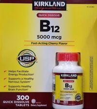 Kirkland Signature Vitamin B-12 5000 Mcg Sublingual 300 Count