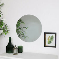 Round Frameless Mirror circle bathroom bedroom home decor scandi bevelled