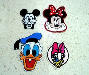Mickey Minnie Donald Daisy Disney Patches Embroidered Cloth Badge Iron Sew On