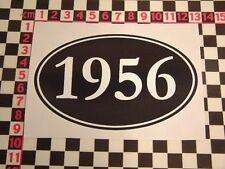 1956 Year Sticker - Hillman Minx Rootes Jaguar XK140 MK1 15/60 Wolseley