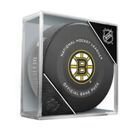 Boston Bruins Official NHL Game Hockey Puck (in Display Cube)
