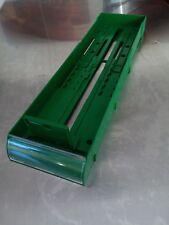 Spring Loaded Single Cartridge Dispenser Plastic Display Racks Adjustable Green