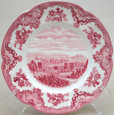 Johnson Bros Salad Plate 8in Old Britain Castles Pink Chatsworth 8in Crown Stamp