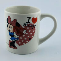 Disney Minnie Mouse I Love Mickey Mug Cup  Mickey Mouse Heart Disneyland ❤️