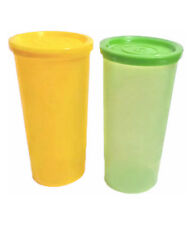 Tupperware Cutie Plastic Tumblers with lids- 150 ML each - Set of 2 - New!