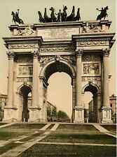 Milano. Arco della Pace e del Sempione. Photochrome original d'époque, Vint