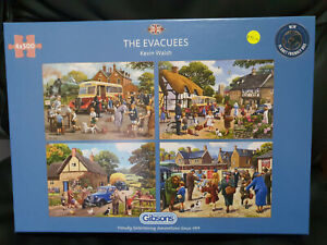 Gibsons G5056 The Evacuees by Kevin Walsh 4X 500 pce jigsaw puzzles